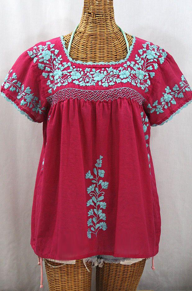 Crochet Blouse Vintage Mexican Blouse
