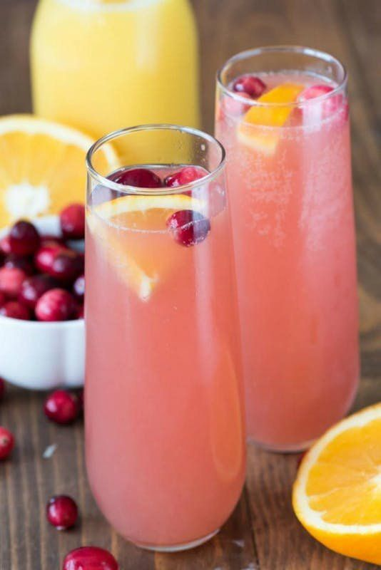 The holidays just got better with this Cranberry Orange Mimosa Bellini recipe.