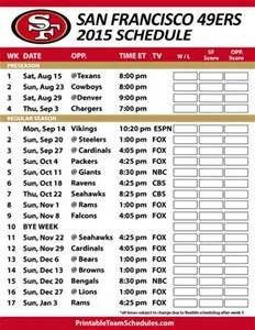 nfl 2015 49ers game schedule printable - - Yahoo Image Search Results