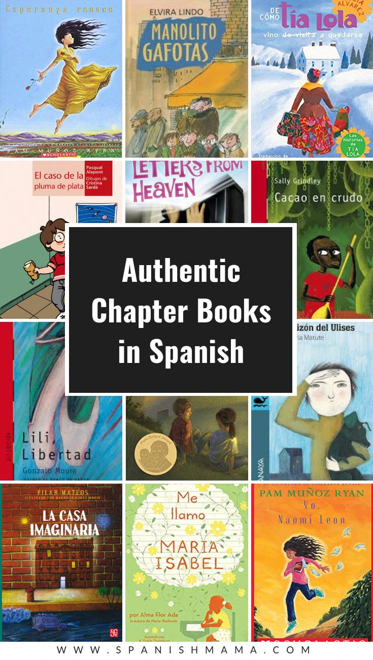 A list of authentic ya spanish books for teens and books