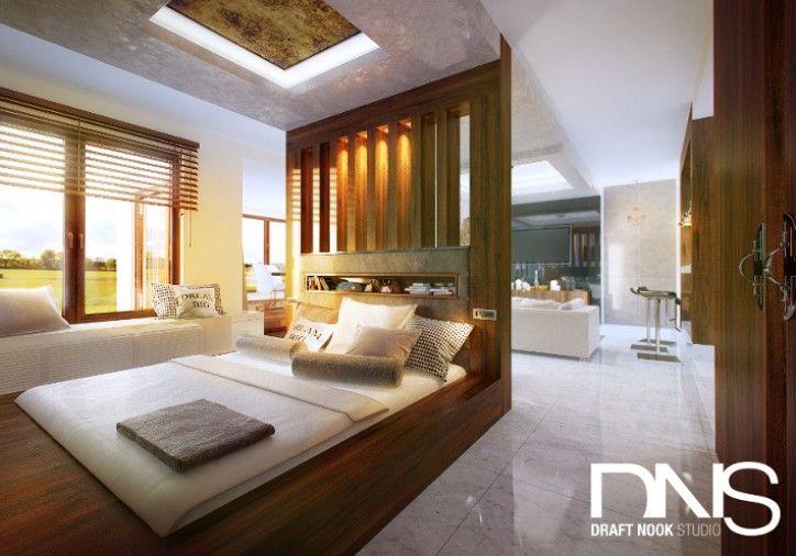 Projekt sypialni - styl nowoczesny