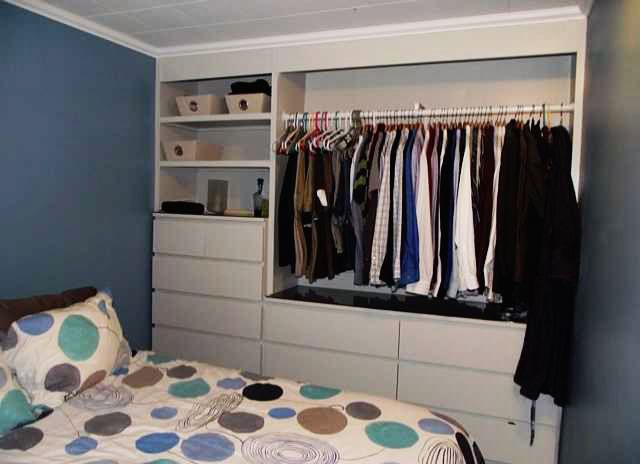 Ikea hack built in wardrobe using malm dressers my How to store clothes without a dresser