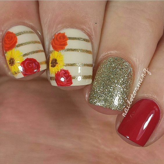 50 Autumn Fall Nail Colors Design to Follow Trends - Best 25+ Colorful Nail Designs Ideas On Pinterest Pretty Nail