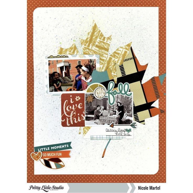 "11 Likes, 1 Comments - Pretty Little Studio (@prettylittlestudio) on Instagram: ""Designer @nicolemartel1978 has us getting ready for Fall with this pretty page she made with the…"""