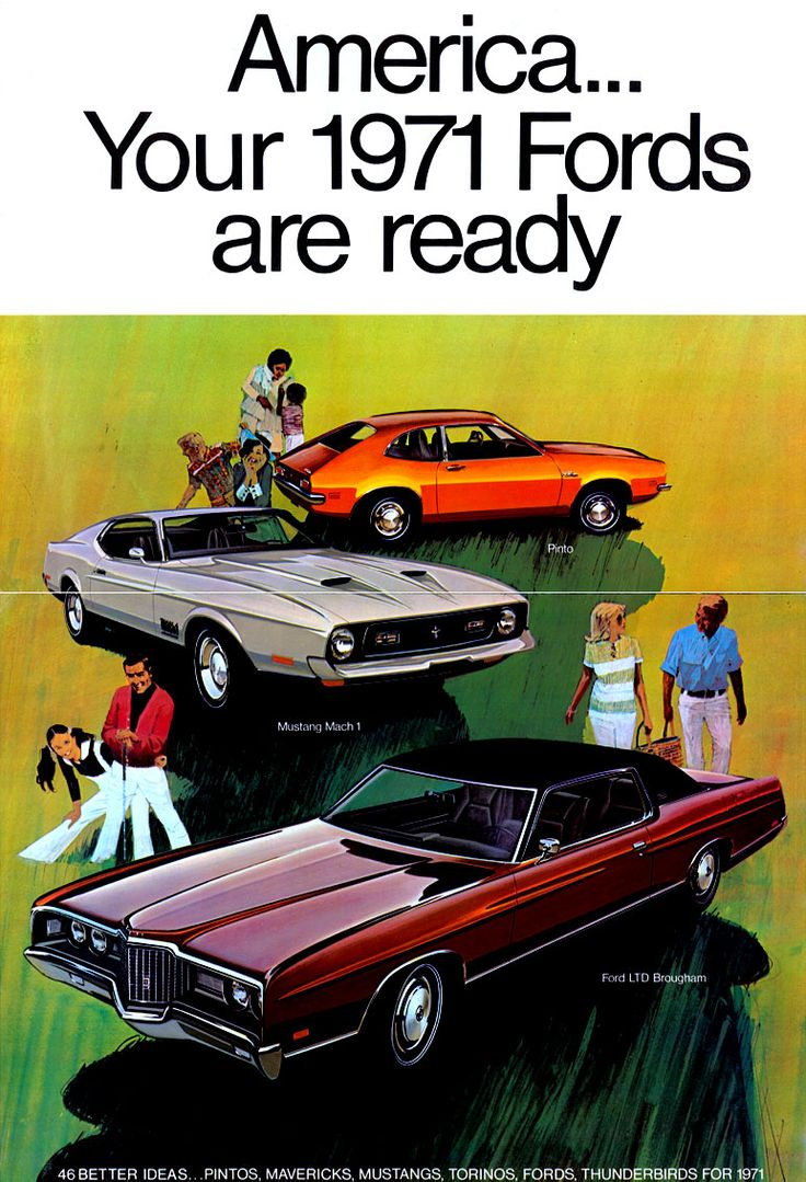 1971 ford full line sales literature