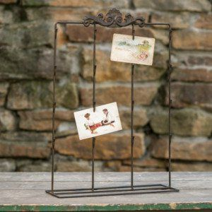 Standing Metal Card Holder  $34