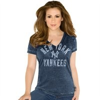 Touch by Alyssa Milano New York Yankees Women's Fire Drill V-Neck T-Shirt