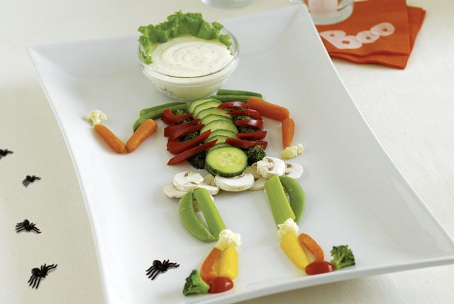Turning veggies into a spooky treat is a great way to get kids eating healthy.