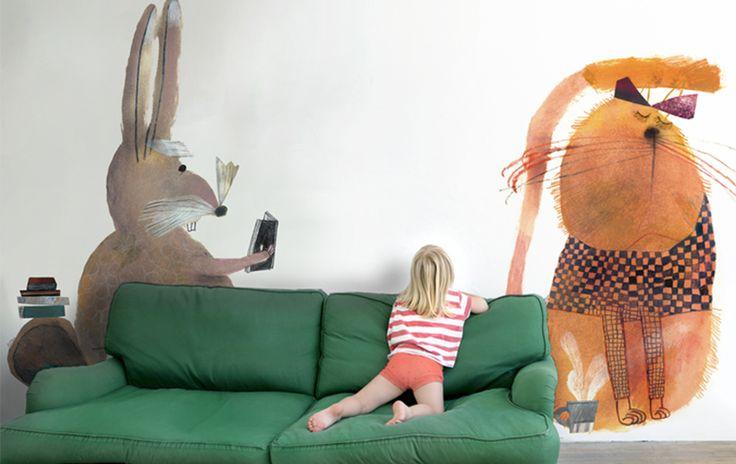 Carta da Parati Gatto - Amazing wall!