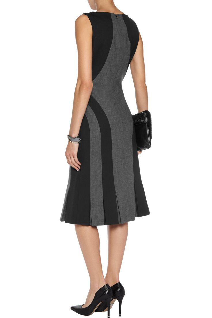 Shop on-sale Michael Kors Collection Paneled stretch-wool twill dress. Browse other discount designer Dresses & more on The Most Fashionable Fashion Outlet, THE OUTNET.COM