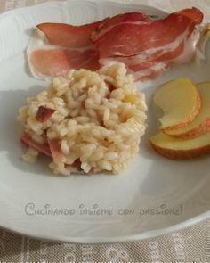 Risotto con mele e speck un primo piatto diverso