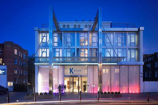 K West, London  Good vibes, great rooms, prime location, and a top-notch spa. Staycation, anyone? K West has it all — besides the sky-high price tag. Located in Shepherd's Bush near the city's go-to districts of Notting Hill, Portobello Road, and Kensington, K West stands out as a dynamic, modern glass building. The 220 guestrooms are all spacious and stylish, with giant beds,