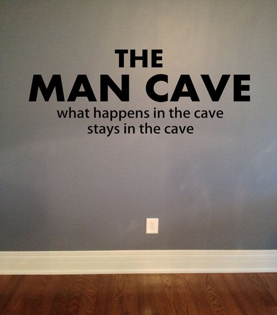 The Man Cave Vinyl Lettering Wall Words Decal Mancave Decor on Etsy, $18.00