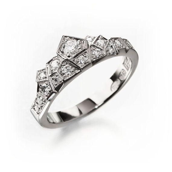 Unique engagement ring alternative engagement ring by KorusDesign