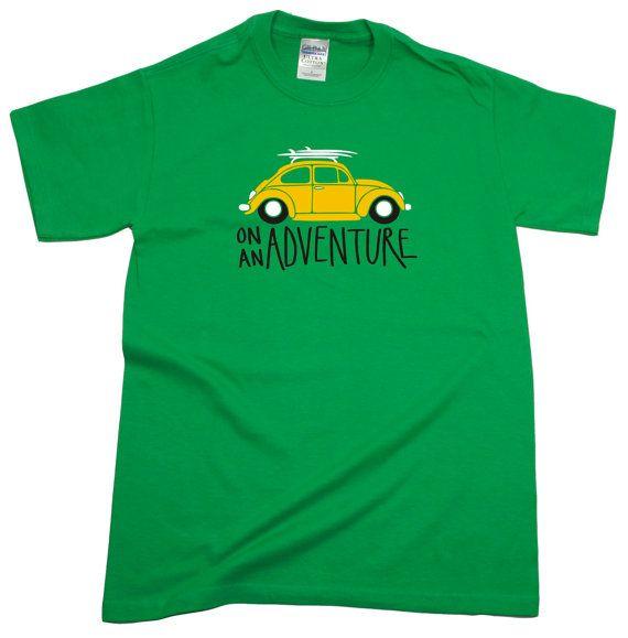 Men's V W Beetle Adventure T-Shirt by StBridesBay on Etsy