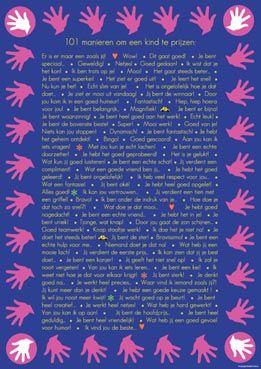 Poster 101 manieren - Jij bent uniek