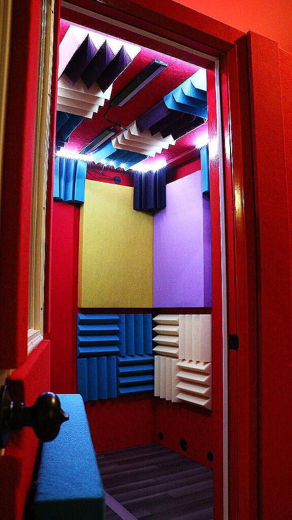 6'x6' Vocal Booth - Multi-Colored - Tier 3 Acoustic Package (Panels