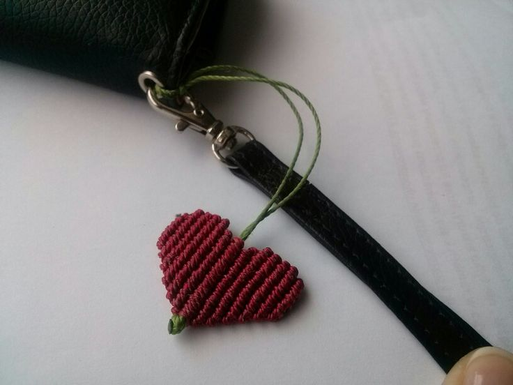 Macrame hanging heart
