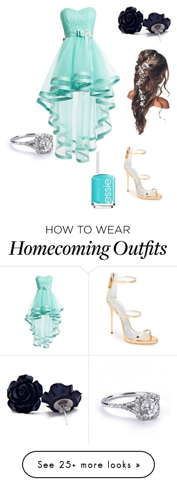 """formal"" by stellamj on Polyvore featuring Giuseppe Zanotti and Essie"