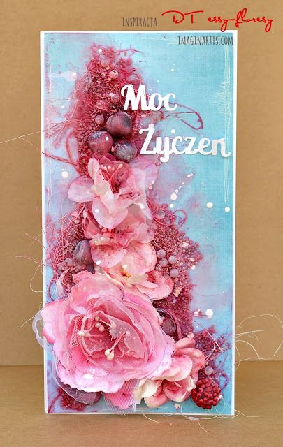 ImaginArtis: Mix mediowa kartka / Mixed media card