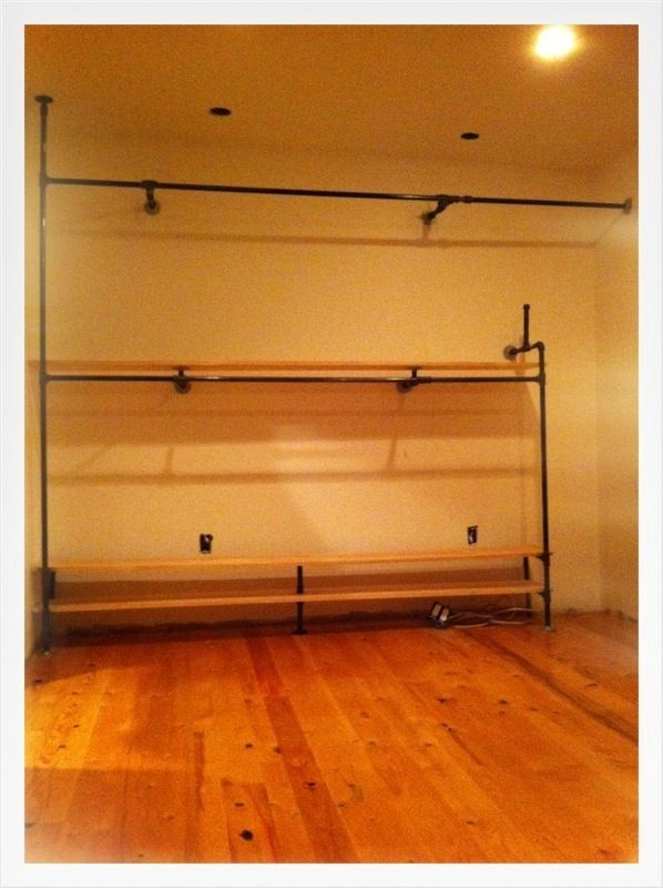 hmmm... more closets out of nothing. a lot like the shelving in circa home and vintage, actually. no wonder i like it.