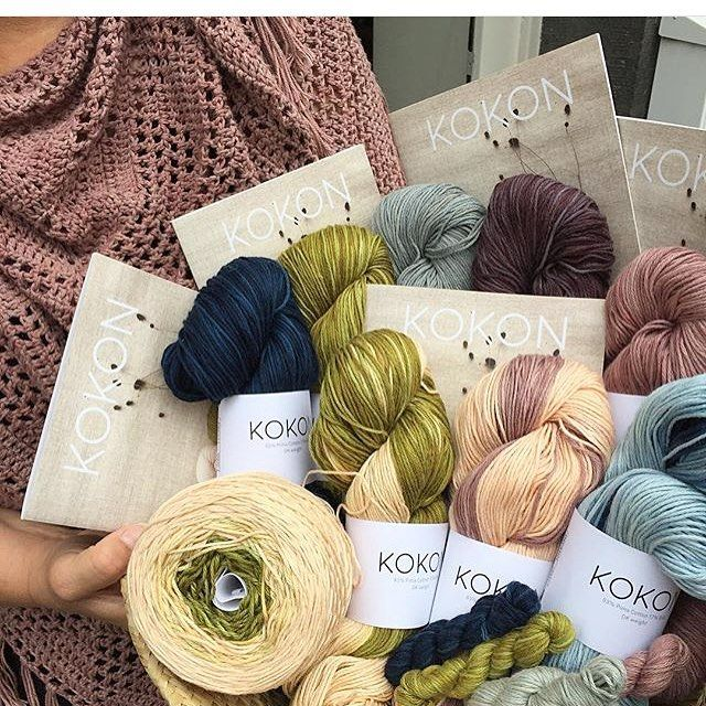 I love this image of Kokon yarn by @kaleido1060 taken after they received their order. Thank you Rosalind! @kaleido1060 stock the Kokon cotton silk DK.   #kokonyarn #handdyed #handdyedyarn #lys #geoshawl #crochet #yarn #yarnlove #scaapi h