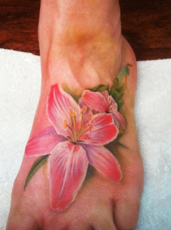 Off the Map Tattoo : Tattoos : Flower Lily : Realistic flower