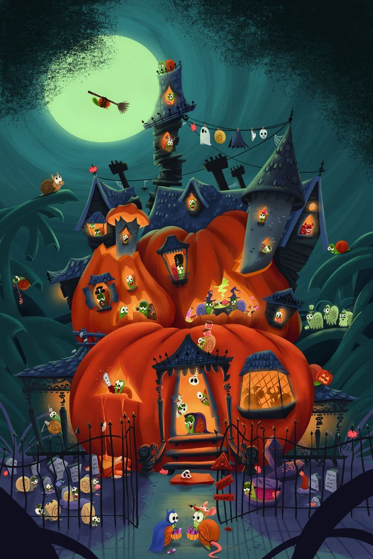 Image result for animated halloween artwork