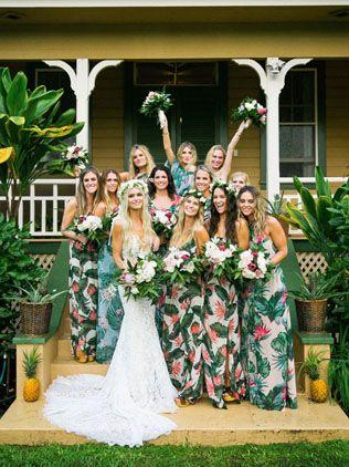 Тренды 2016 года: зеленые листья, пальмы и тропики, подружки невесты с невестой - The-wedding.ru