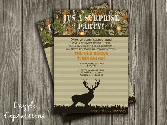 The 25 best Surprise birthday invitations ideas – 50th Birthday Surprise Invitations