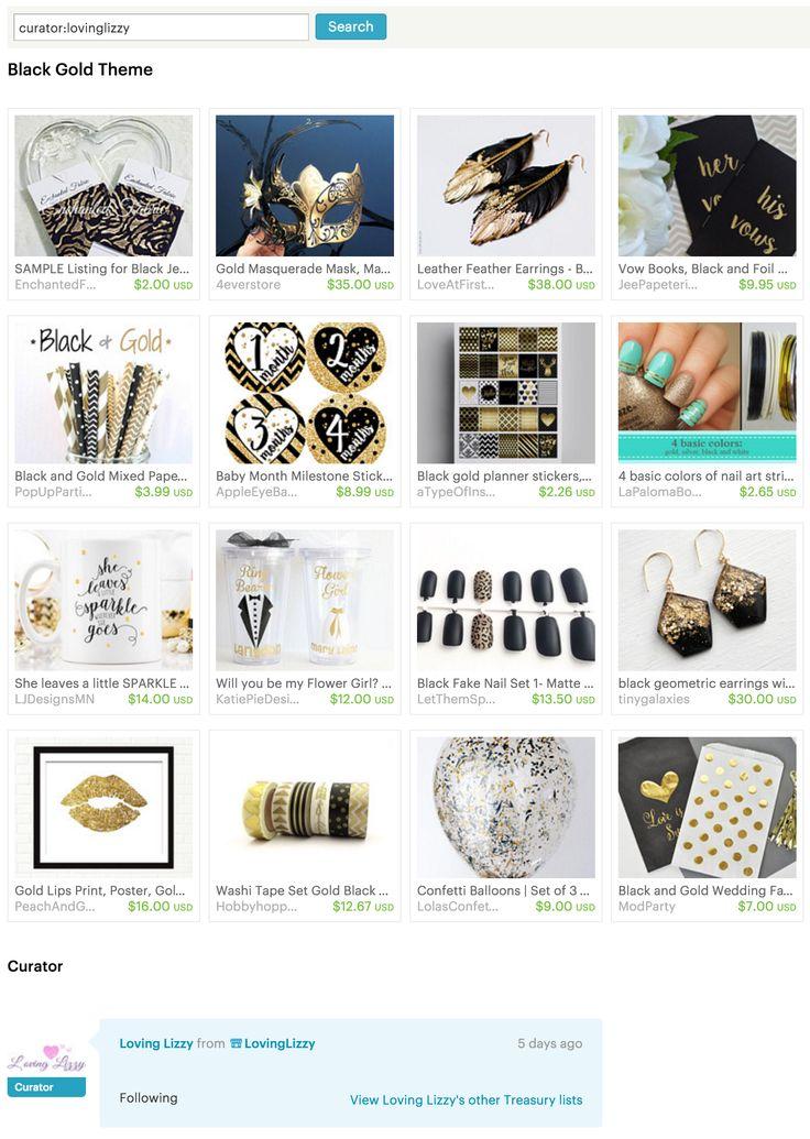#Black #Gold #Theme - #Etsy Treasury by #LovingLizzy