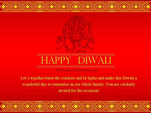 Diwali Party Invitation Cards Wording Samples Ideas Messages – Party Invitation Quotes