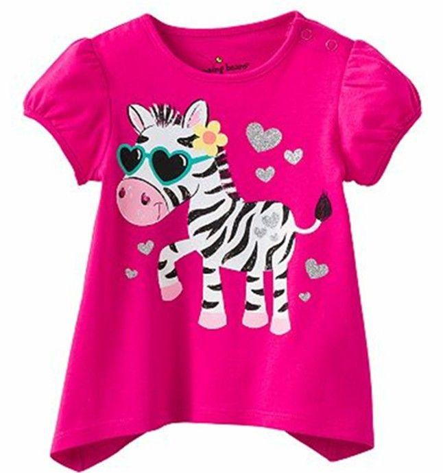Retail Brand 2017 New babyKids Girls Tshirt Child Clothing Childrens Tops Summer Clothes Short Sleeve Tee blouse shirts Cartoon