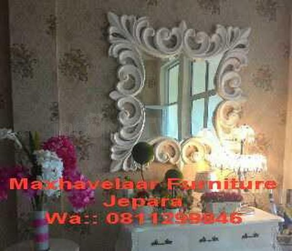 Cermin Hias Putih • Max Havelaar Furniture • Indonetwork.co.id