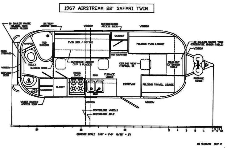 The Vintage Airstream Safari Twin 22 Foot Travel Trailer