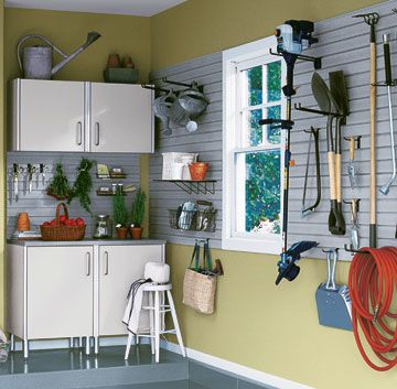 31 best storage ideas images on pinterest garage organizing ideas buy or build garage cabinet simple garage design with white cabinet and bench garage inspiration solutioingenieria Choice Image
