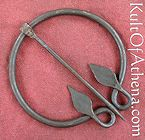 Iron Ring Shaped Leaf Brooch