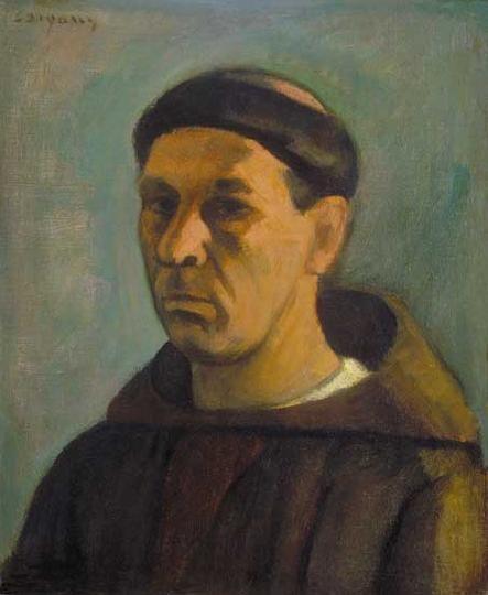 Czigány Dezső (1883-1938) Önarckép Olaj, vászon kartonon, 51x42 cm