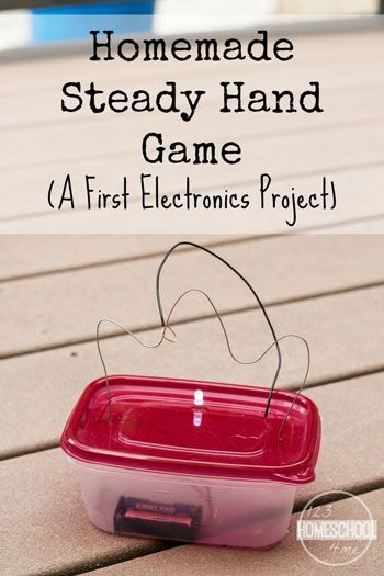 Electronics Project for Kids - Kids will be amazed as they learn about electricity while making this steady hand electronics game. This is such a fun science project that while help them learn as they play! Great for kindergarten, first grade, second grad