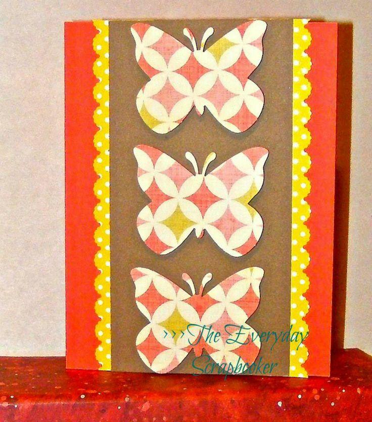 Butterfly card www.facebook.com/TheEverydayScrapbooker