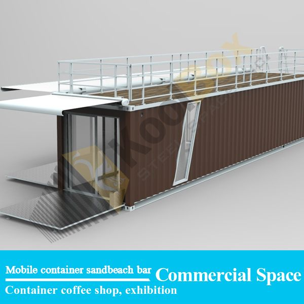 Source 2016 latest shipping container sandbeach coffee shop/bar , hydraulic system mobile container coffee bar/shop for sale on m.alibaba.com