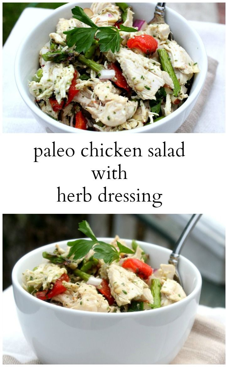 This Paleo Chicken Salad with Herb Dressing is so fresh and light. You ...