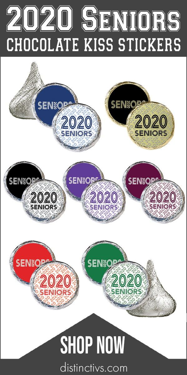 Senior Class of 2020 Party Favor Stickers - 1,080 Stickers (7 Colors)