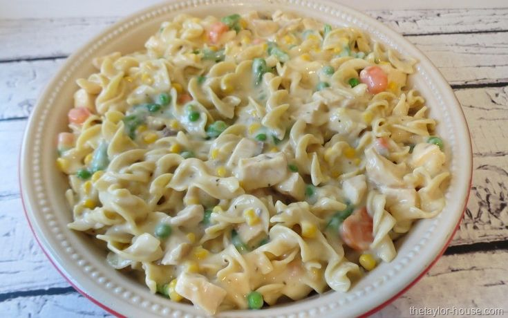 Chicken Noodle Casserole - to try with cream of whatever starter (instead of canned soup)