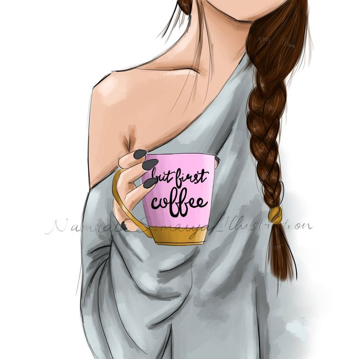 Excited to share the latest addition to my #etsy shop: But first, Coffee.  (Fashion Illustration art print) #art #drawing #collectibles #prints #artprint #illustration #fashionillustration #fashiongirl #digitalart