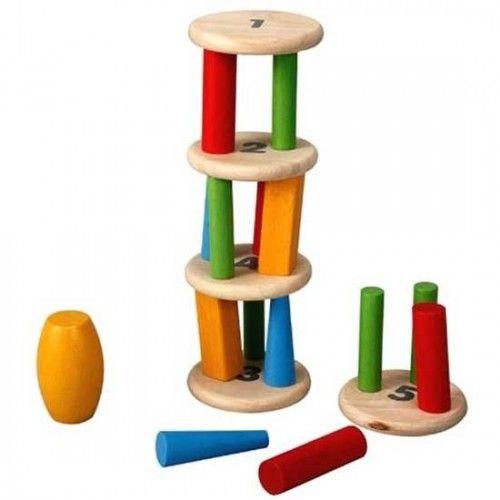 juguete educativo de madera torre del equilibrio