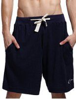 Godsen Men's Elastic Cotton Pocket Short,blue - Visit to see more options