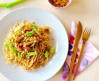 superenkel kylling pad thai