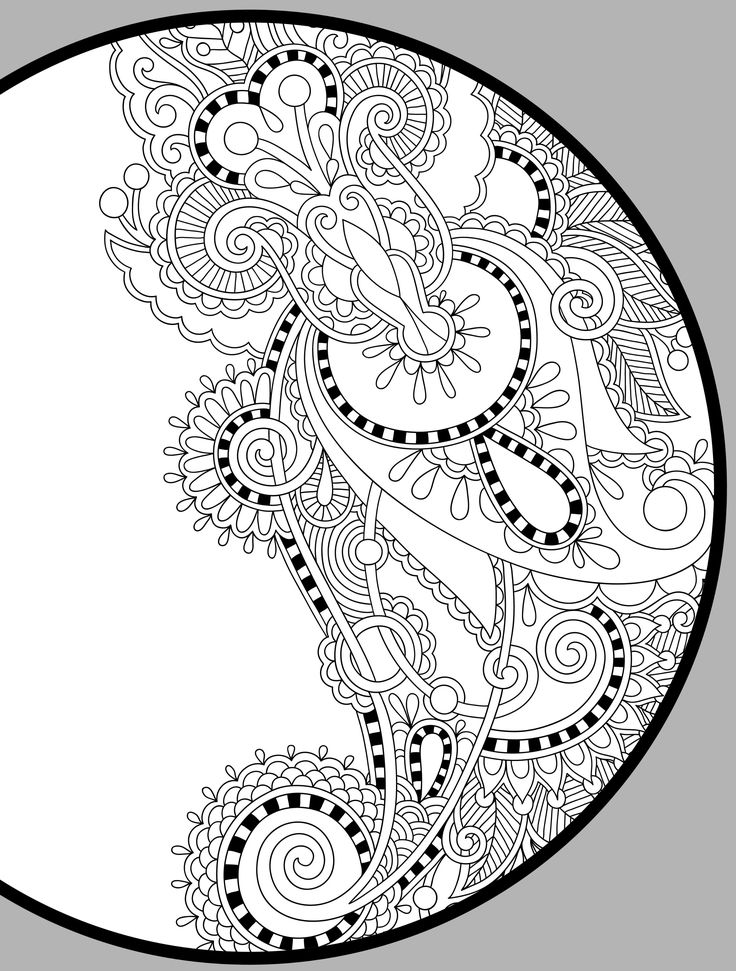 paisley coloring pages printable