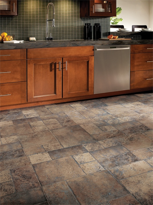 Armstrong Weathered Way Laminate Flooring / 4 Colors To Choose From /  Beautiful Random Stone Patterns